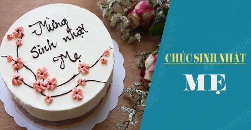 lời chúc sinh nhật mẹ